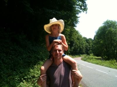 Juliane og mig på en varm sommerdag i Frankrig 2013.